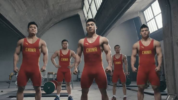 Chinese Weight Lifting Team